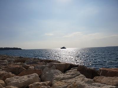 Blick über das Mittelmeer Ende Oktober - fast wie Sommer :-)