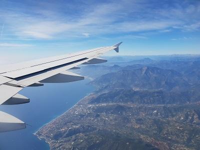 Kurz vor der Landung in Nizza