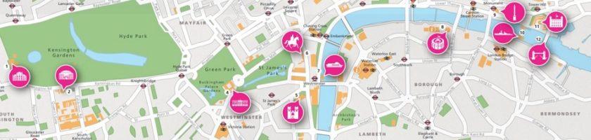 London sehenswürdigkeiten karte