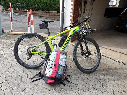 An einem Mountainbike ist wenig Stauraum.
